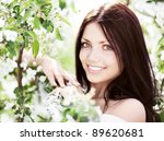 beautiful young brunette woman... | Shutterstock . vector #89620681