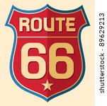 historic route us 66 sign | Shutterstock .eps vector #89629213