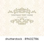 vintage frame or diploma on... | Shutterstock .eps vector #89632786