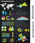 infographic vector graphs and...   Shutterstock .eps vector #89634349