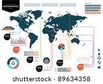 set elements of infographics.... | Shutterstock .eps vector #89634358