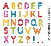 vector font  a to z alphabet | Shutterstock .eps vector #89636434