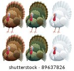 Illustration Of A Turkey In 2...