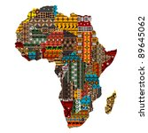 africa map with countries made... | Shutterstock .eps vector #89645062