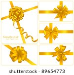 set of gold gift bows with... | Shutterstock .eps vector #89654773