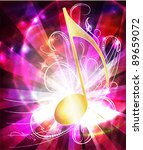 colorful musical background... | Shutterstock .eps vector #89659072