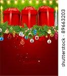 christmas background vector... | Shutterstock .eps vector #89663203