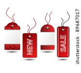 vector sale christmas tags   Shutterstock .eps vector #89687017