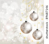 christmas background with... | Shutterstock .eps vector #89687146