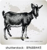 animal,antique,artwork,black,book,bovine,buck,capra,card,cheese,cover,demon,doe,domestic,domesticated