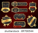 golden vector banners set | Shutterstock .eps vector #89700544