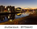 River Tyne At Night   Elevated ...