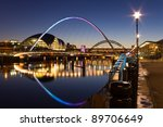 newcastle quayside at night  ...   Shutterstock . vector #89706649