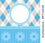 baby boy card with flowers and... | Shutterstock .eps vector #89713228