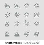 vector weather forecast icon...
