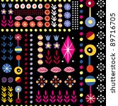 abstract art floral pattern - stock vector