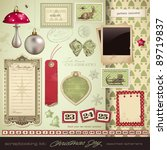 scrapbooking kit  christmas  ... | Shutterstock .eps vector #89719837