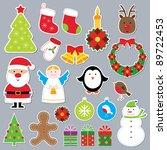 christmas vector set | Shutterstock .eps vector #89722453