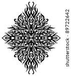 symmetrical fire tribal tattoo | Shutterstock .eps vector #89722642