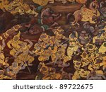 thai art wall in temple thailand | Shutterstock . vector #89722675