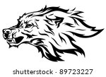 angry wolf vector illustration | Shutterstock .eps vector #89723227