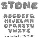 Vector Cracked Stone Alphabet...