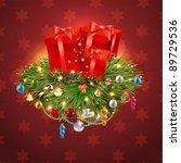 christmas background vector... | Shutterstock .eps vector #89729536
