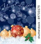 vector christmas card with... | Shutterstock .eps vector #89733175