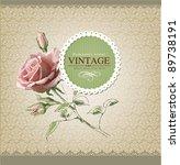 vintage vector labels | Shutterstock .eps vector #89738191