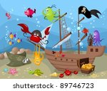 sea life | Shutterstock .eps vector #89746723