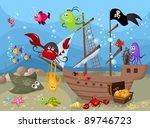 sea life   Shutterstock .eps vector #89746723