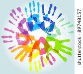colorful handprint  vector... | Shutterstock .eps vector #89748157