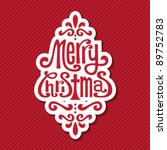 christmas tag | Shutterstock .eps vector #89752783