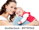 young mother with a charming... | Shutterstock . vector #89759563