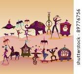 circus caravan with magician ... | Shutterstock . vector #89776756