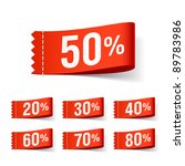 discount labels. vector. | Shutterstock .eps vector #89783986