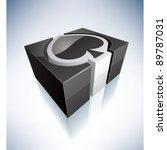 three dimensional green symbol  ... | Shutterstock .eps vector #89787031