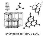molecular carbon in diamond and ... | Shutterstock .eps vector #89791147