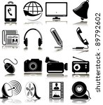 set of multimedia icons | Shutterstock .eps vector #89792602