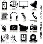 set of multimedia icons | Shutterstock .eps vector #89792602