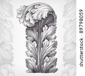 vintage engraving acanthus... | Shutterstock .eps vector #89798059