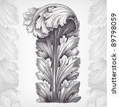 vintage engraving acanthus... | Shutterstock .eps vector #89798059