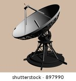 EOS Mars Program Radar Unit Side View - stock photo