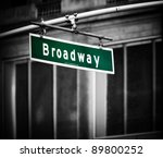 Broadway Sign With Added...