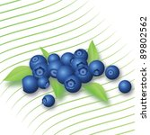 blueberries with leaves | Shutterstock .eps vector #89802562