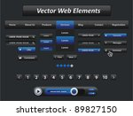 vector black and blue web... | Shutterstock .eps vector #89827150