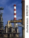 Part of an old petrochemical refinery. - stock photo
