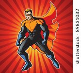 super hero with visor getting... | Shutterstock .eps vector #89831032