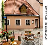 small inn in old riga city  ... | Shutterstock . vector #89833105