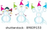 snow dragon with three heds | Shutterstock .eps vector #89839153